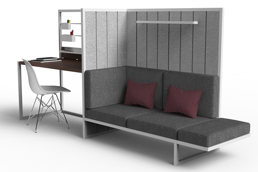 A flatpack, modular, flexible furniture system that grows with your needs without taking up space!