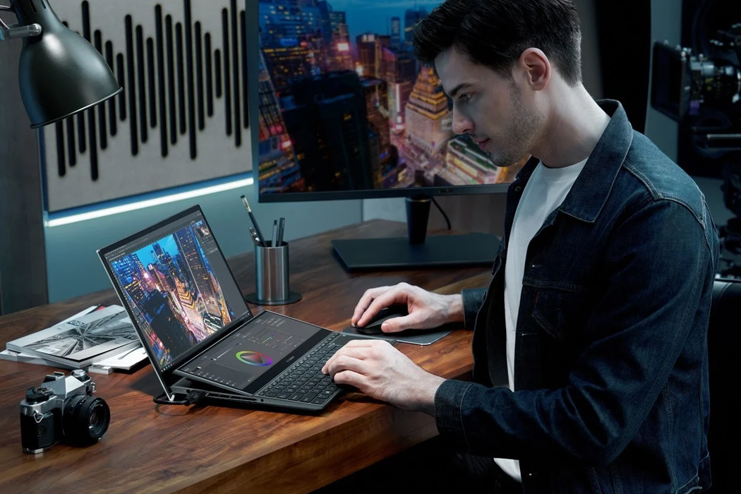 Asus unveils ZenBook Duo OLED with a 9.5 degree titling secondary display for ultimate content creation!