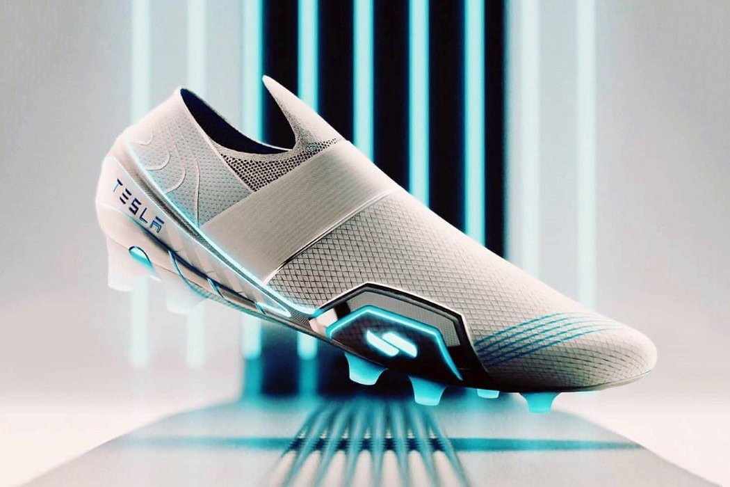 Ex-Nike and Adidas Footwear designer made conceptual 'electrified' Tesla Football Shoes!