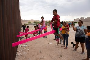 Design of the Year 2020 award goes to a pink seesaws installation on the US-Mexico border!