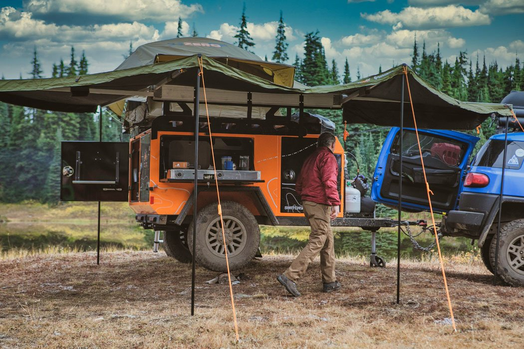 This Jeep compatible off-roading trailer was built for every adventure junkies' ultimate camping exploit!