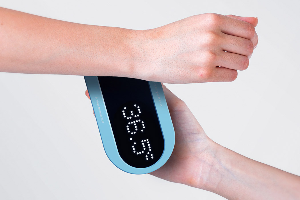 This minimal contact thermal scanner makes checking your temperature a better user experience!