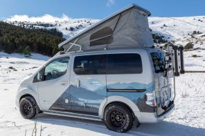 This Nissan all-electric camper is for couples who can't resist winter expeditions!