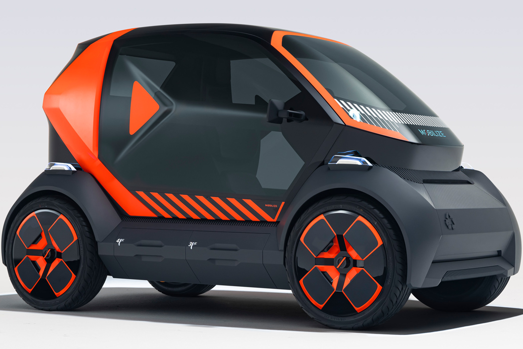 Renault EZ-1 Prototype is a recyclable two-seater EV tailored for shared urban mobility