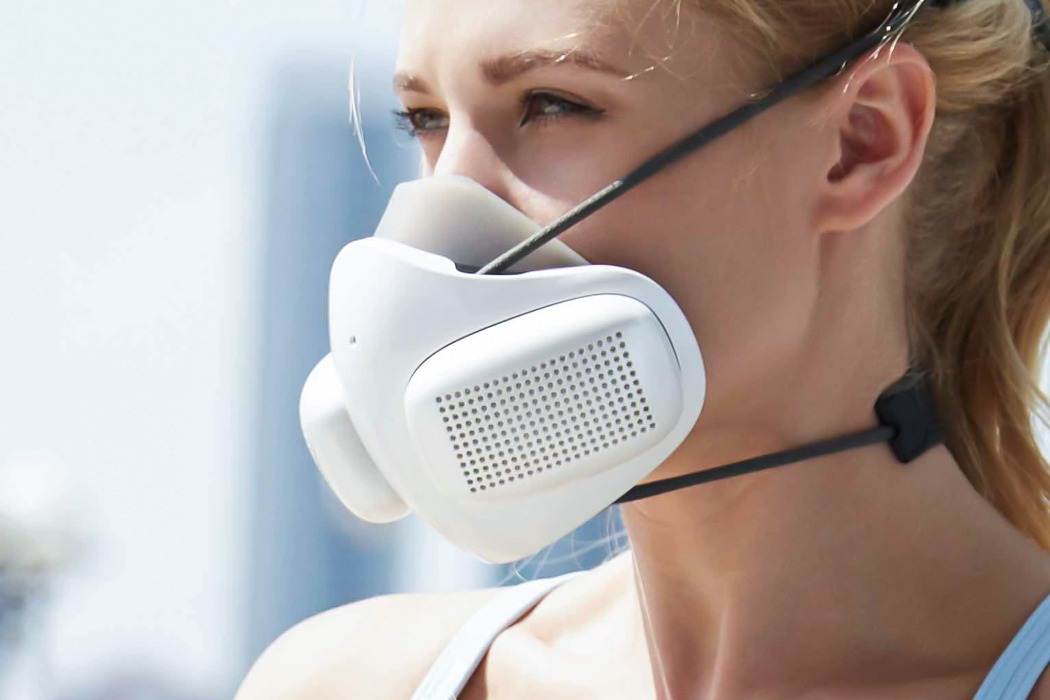 The ATMOBLUE smart N95 mask uses dual-fans to give you 99.9% clean air, and is shipping now