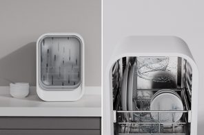 This desktop dishwasher inspired by rain is the space-saving solution modern homes need