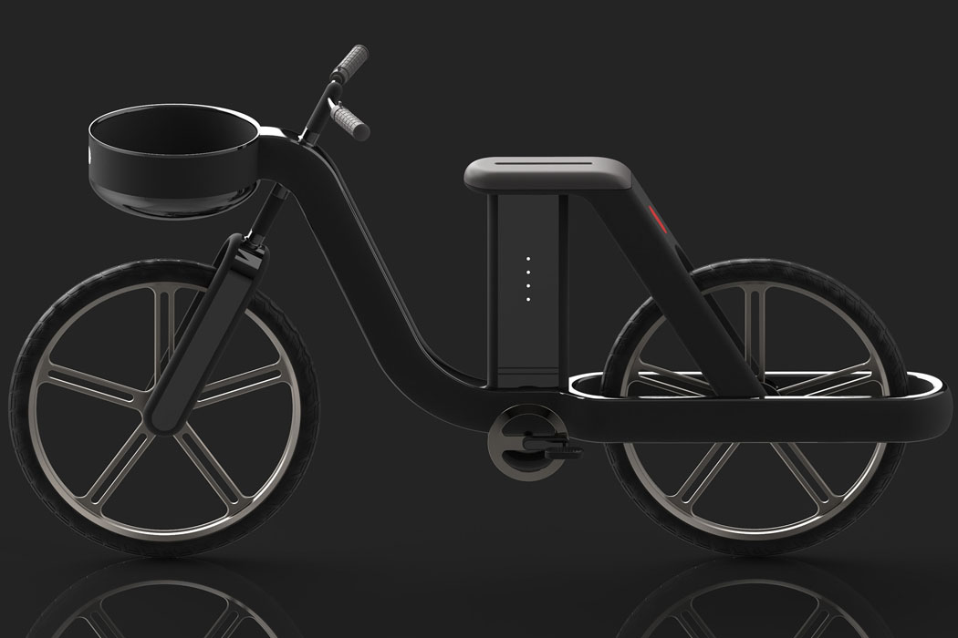 This transforming automotive design takes 3 forms – e-bicycle + e-scooter + e-kickboard, giving mobility to the entire family!