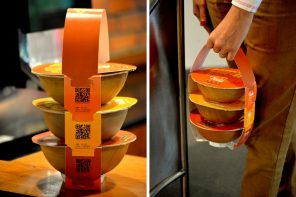 This eco-friendly takeaway packaging was inspired by the stacked Indian tiffin