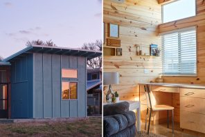 This tiny home in the Community First! Village is built for previously unhoused individuals