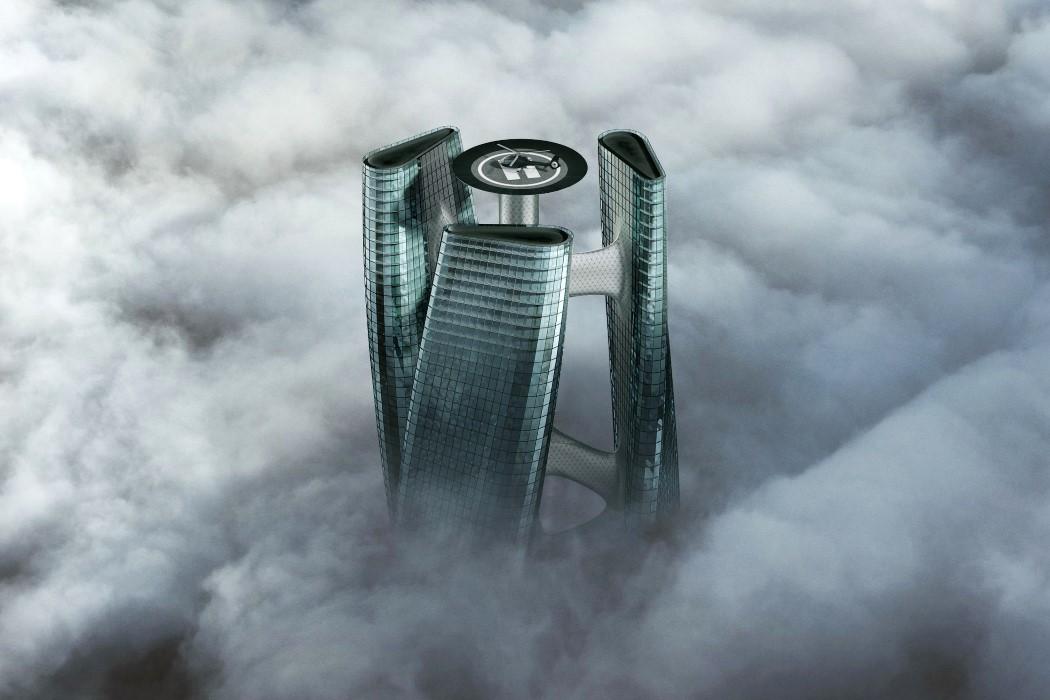 Этот небоскреб в форме турбины в Дубае вращается вместе с ветром!