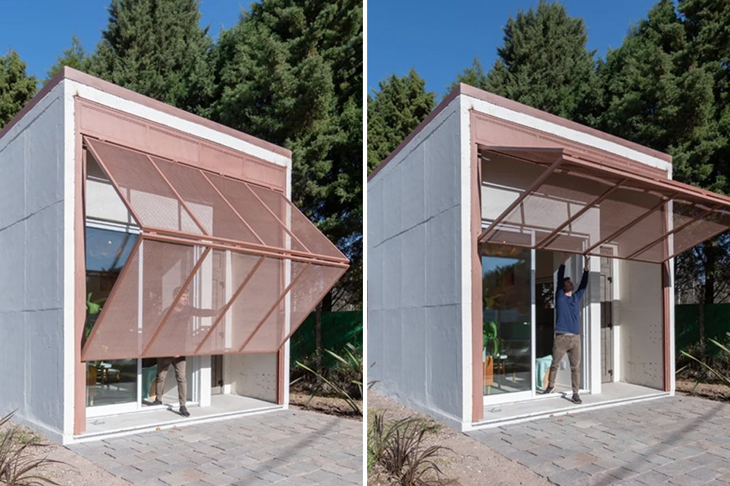 This prefabricated intelligent tiny home is a reinforced concrete + weatherproof design, making it nearly indestructible!