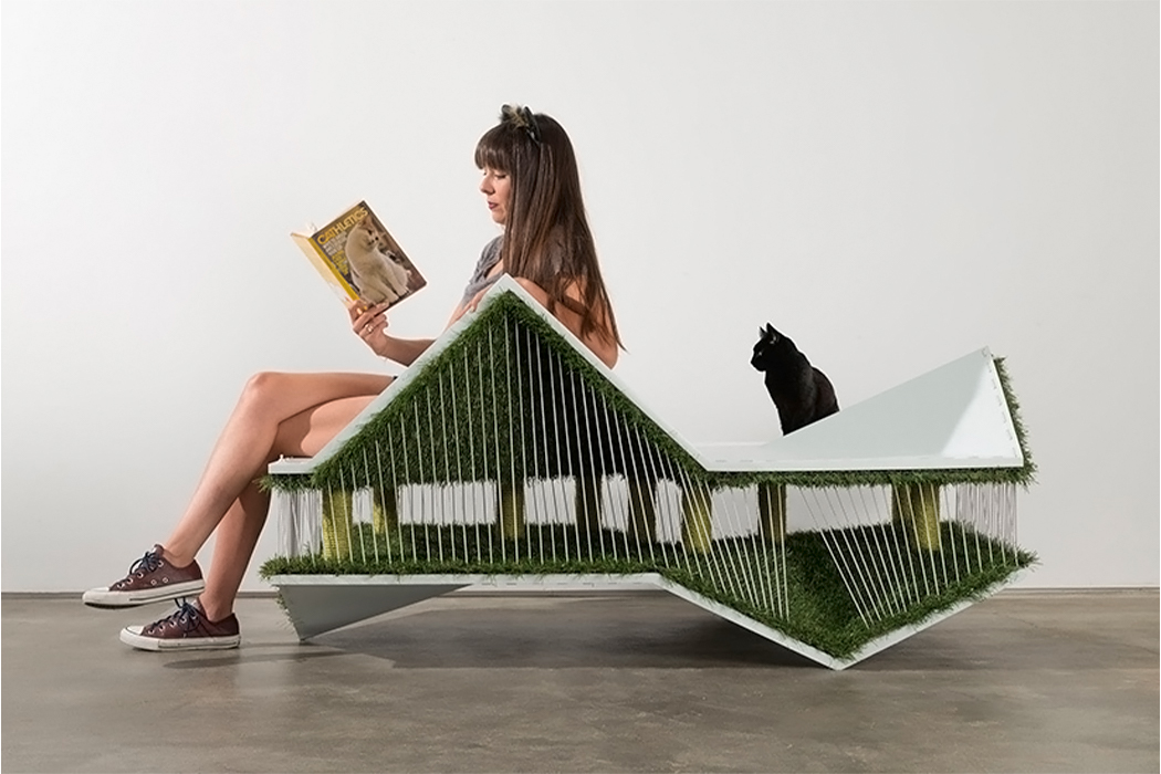This furniture design is a functional piece for you and a playful landscape for your cat!