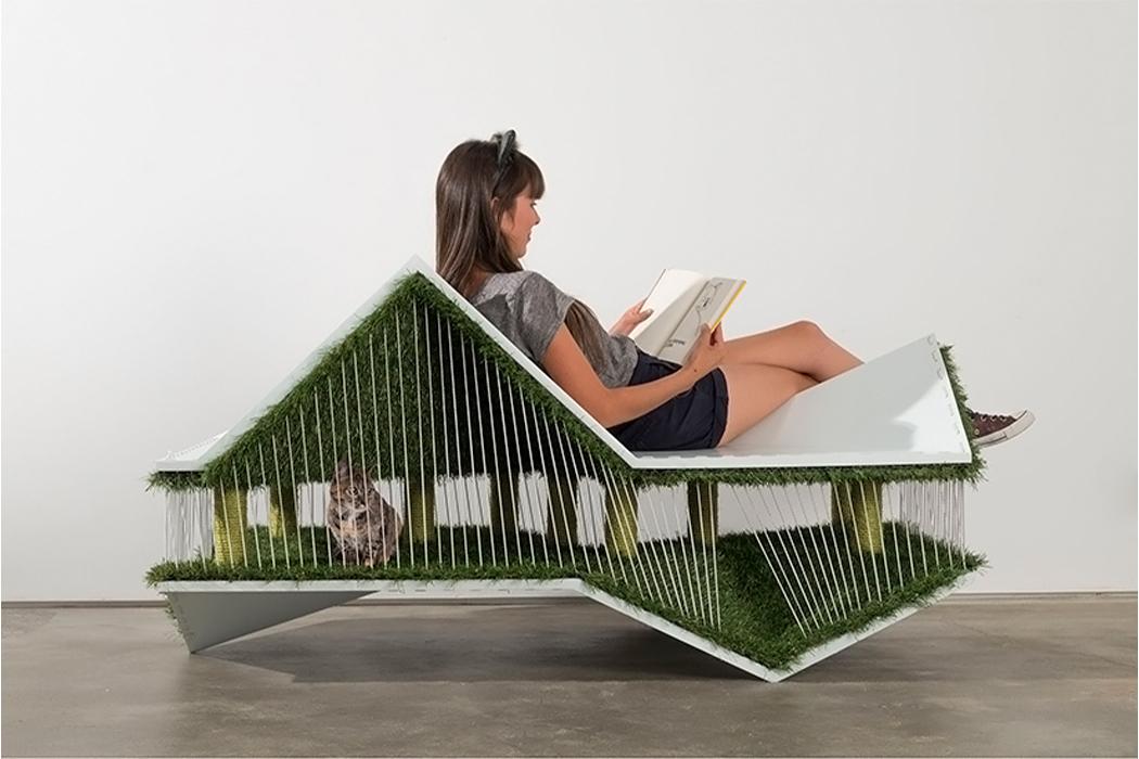 Этот дизайн мебели - функциональный предмет для вас и игривый пейзаж для вашей кошки!