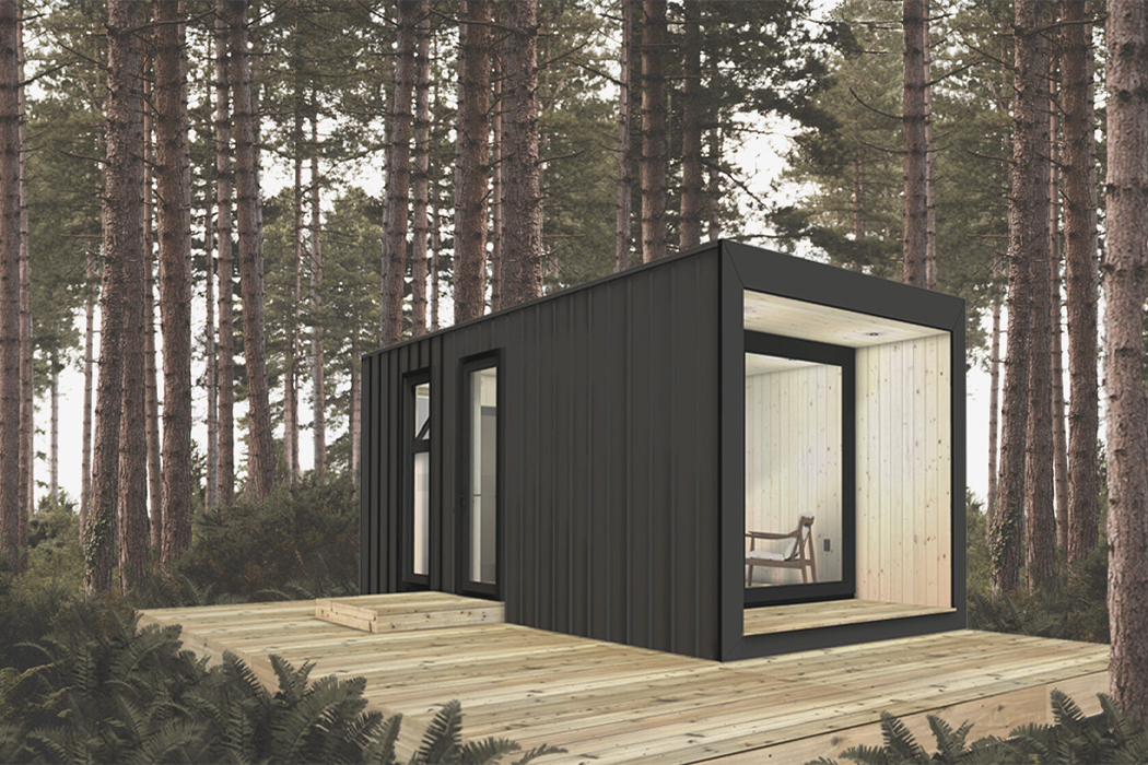 This prefabricated tiny office workspace uses a love of details to create this must have 2021 getaway!