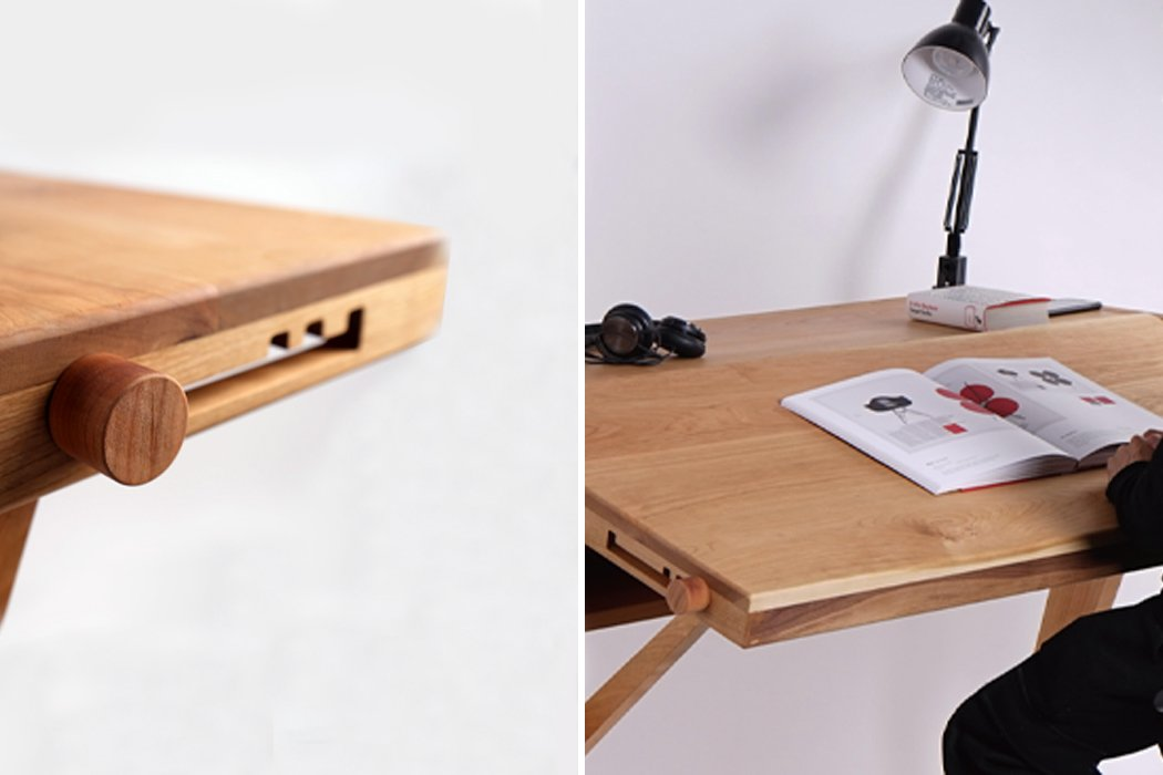 This adjustable desk with four different forms was constructed for designers to draw easily!