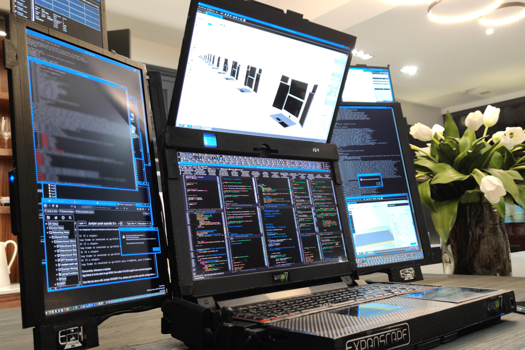 This 7 screen laptop transforms like a Swiss Army knife to create some serious working space!