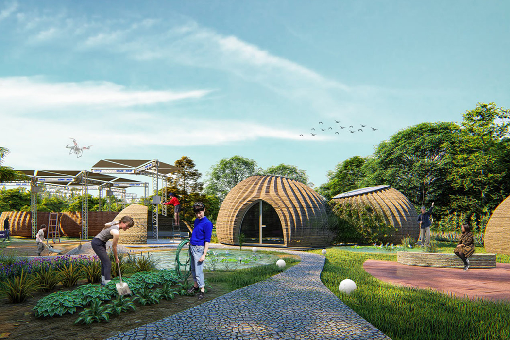 A 3D printed global housing community is being constructed in Italy for sustainable living!