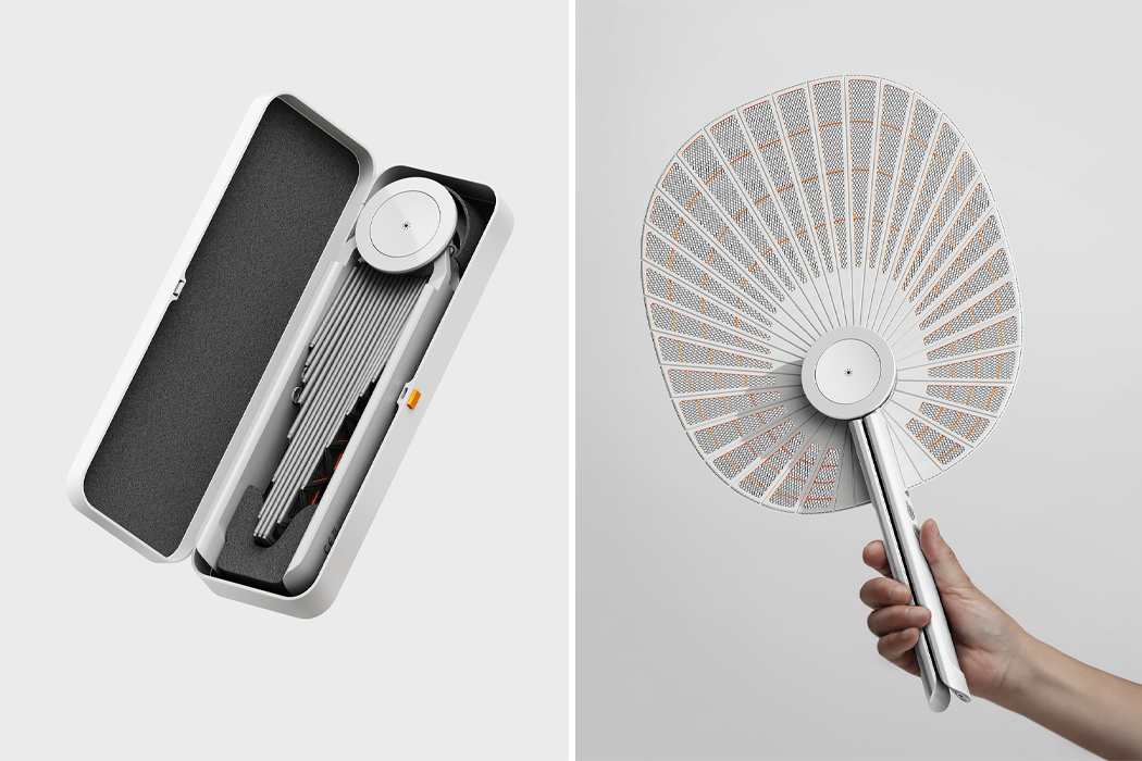 This folding electric mosquito swatter expanding like a fan is the ultimate 2021 summer accessory!