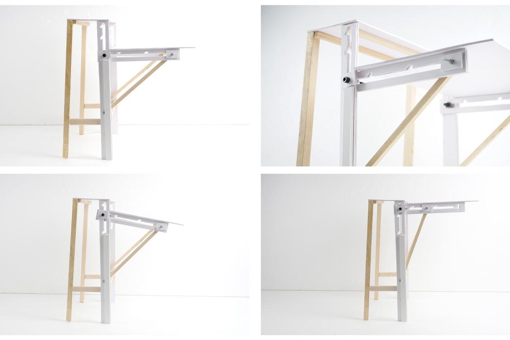 Этот регулируемый стол четырех разных форм создан для того, чтобы дизайнеры могли легко рисовать!