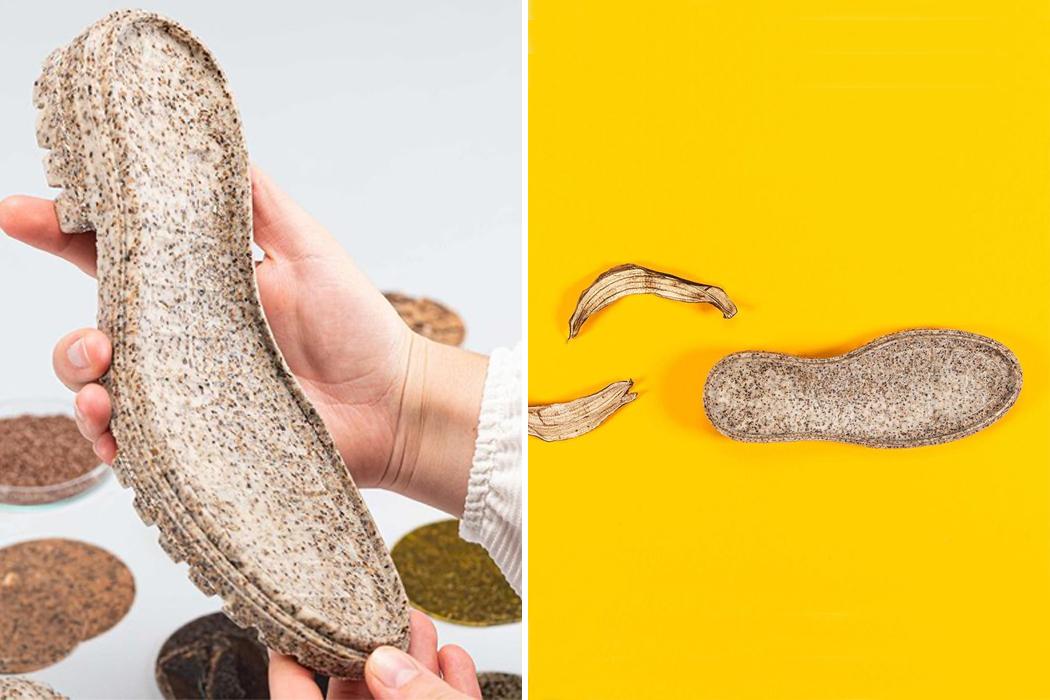 Cáscaras de plátano: una diseñadora hace desde suelas hasta lentes.