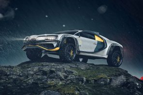 Someone turned the Bugatti Chiron into a 4×4 off-roader and it feels like Mad Max meets Cyberpunk