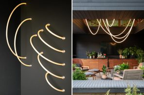 These luminous ropes are lighting fixtures made from flexible LEDs, woven nylon, and silicone!