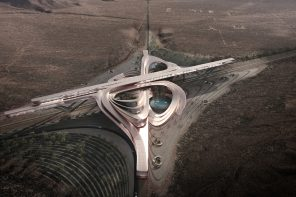 This futuristic transit hub is also an educational sanctuary in the Mojave Desert!