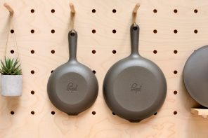 By being 30% lighter, this ultimate minimalist non-stick cast iron skillet is much easier to cook with!