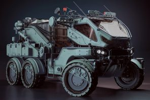 This Cybertruck-inspired Tesla Modular rover was designed for exploration missions on Mars!