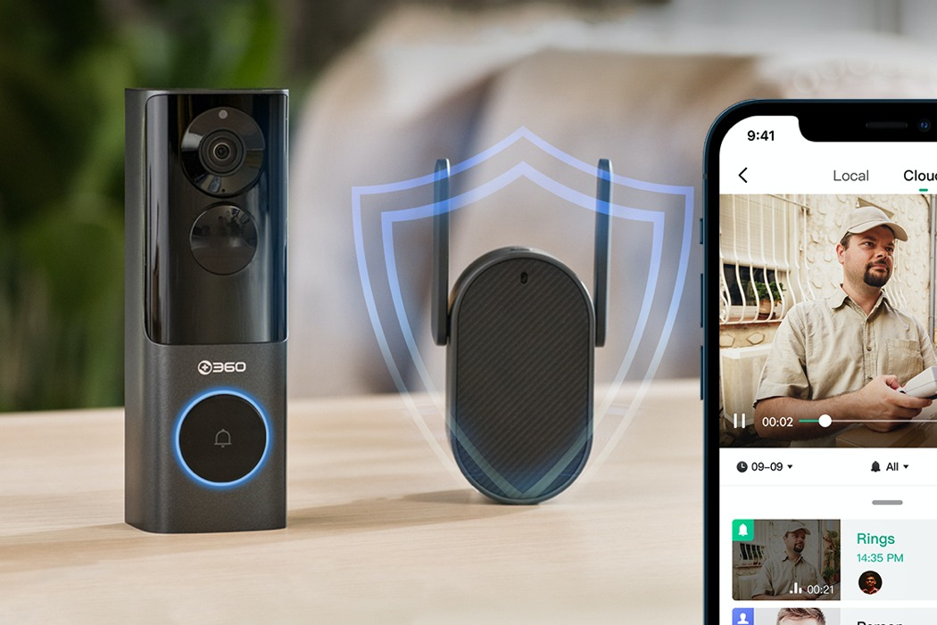 This smart doorbell's radar sensing 5MP HD camera can detect faces, packages, and read license-plates