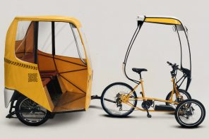 This leaning electric trike is a reliable cargo carrier + swift city commuter for urban dwellers