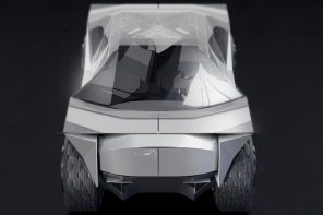 This Tesla Origami concept is the sci-fi blend of Cybertruck and NASA rover!