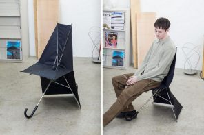 This umbrella-shaped folding chair is the most brilliantly creative furniture design I've seen this year!