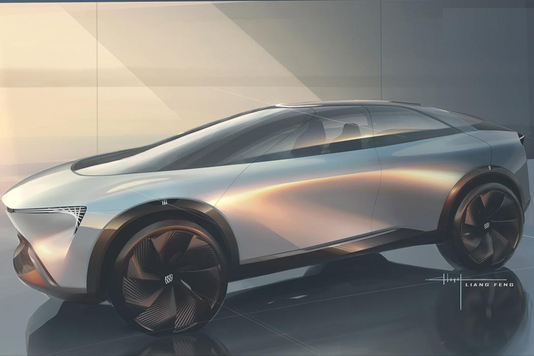 Этот концепт Buick Electra исходит из органического дизайна инопланетного космического корабля.