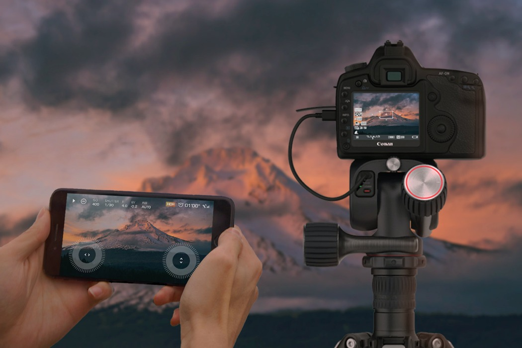 Clever motorized attachment turns your tripod into a remote-controlled camera-operator