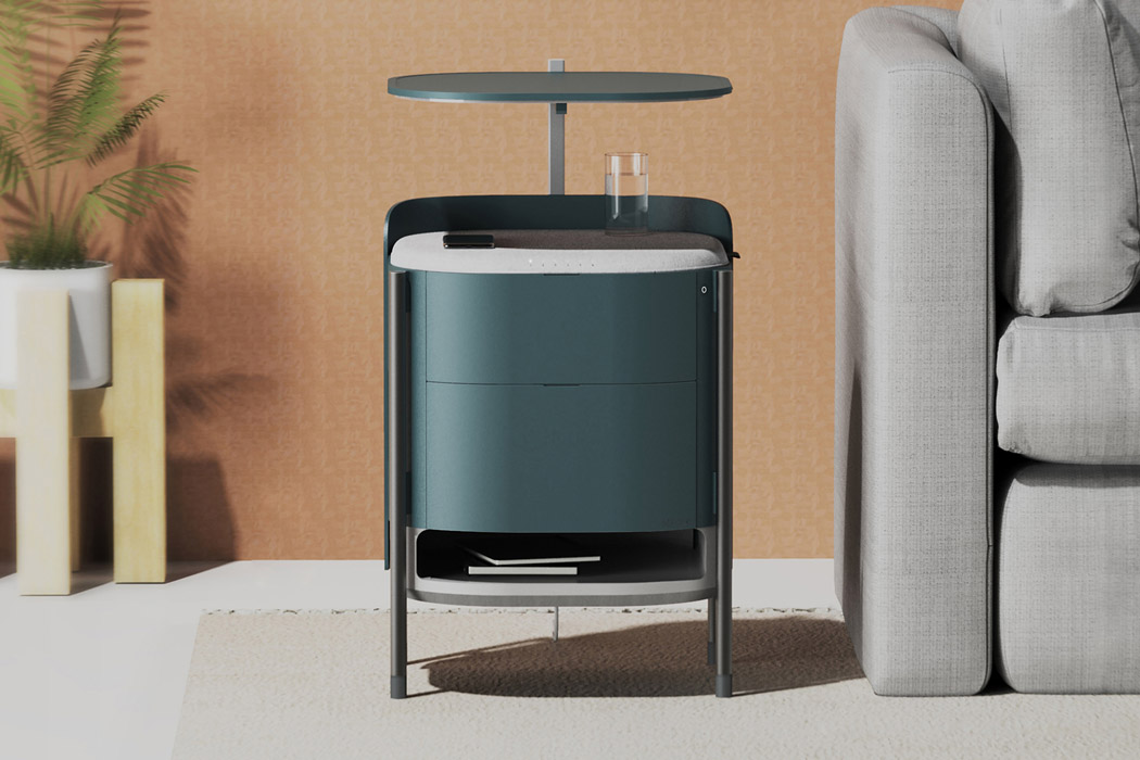 This bedside table with an inbuilt wireless charging hub is the trend that IKEA should pick up!