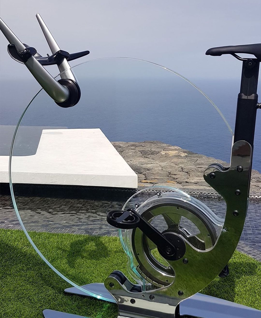 This Dyson-inspired minimal exercise bike might replace your bulky Peloton!