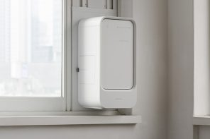 This Window Air Purifier blows fresh aromatic air indoors for a clean, healthy home