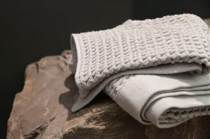 Titanium and silver fibers in this towel help it be naturally anti-bacterial and odor-free