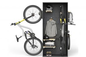 This modular bike storage solution is customizable and versatile fit for every city apartment!