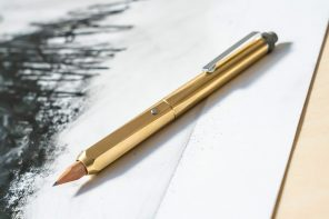 This brass holder upgrades your average wooden pencil into immaculate high-end stationery