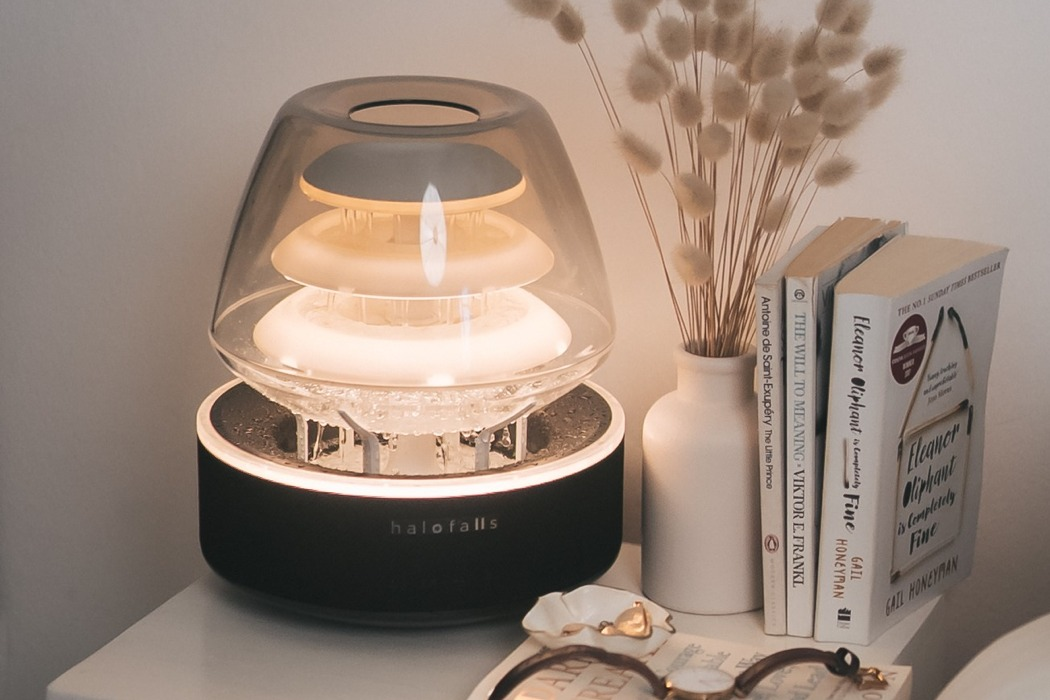 Meet the world's only Bluetooth speaker and ambient lamp with its own internal waterfall!