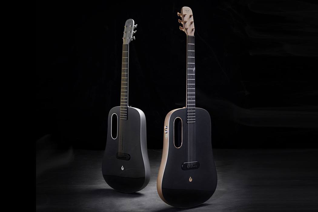 This award-winning semi-acoustic guitar is made in a single piece from carbon fiber