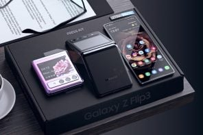 Samsung Galaxy Z Flip 3 concept has a bezel-less folding screen and the S21's camera module