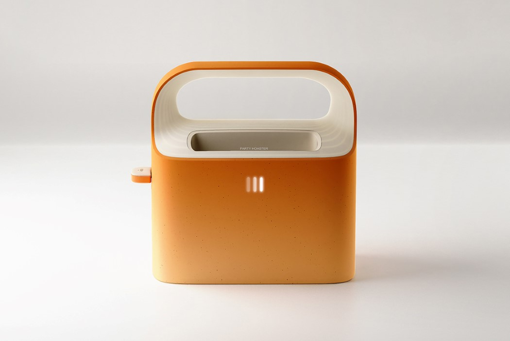 This toaster lets you customize your slice of toast with personal messages or inspirational quotes