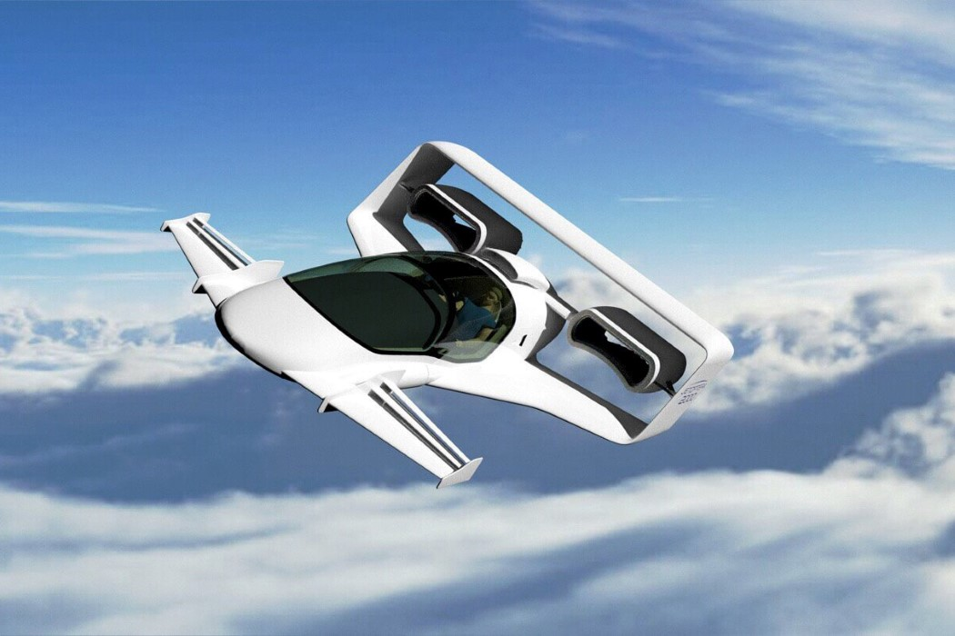 This jet-inspired VTOL is propelled forward by two powerful bladeless fans