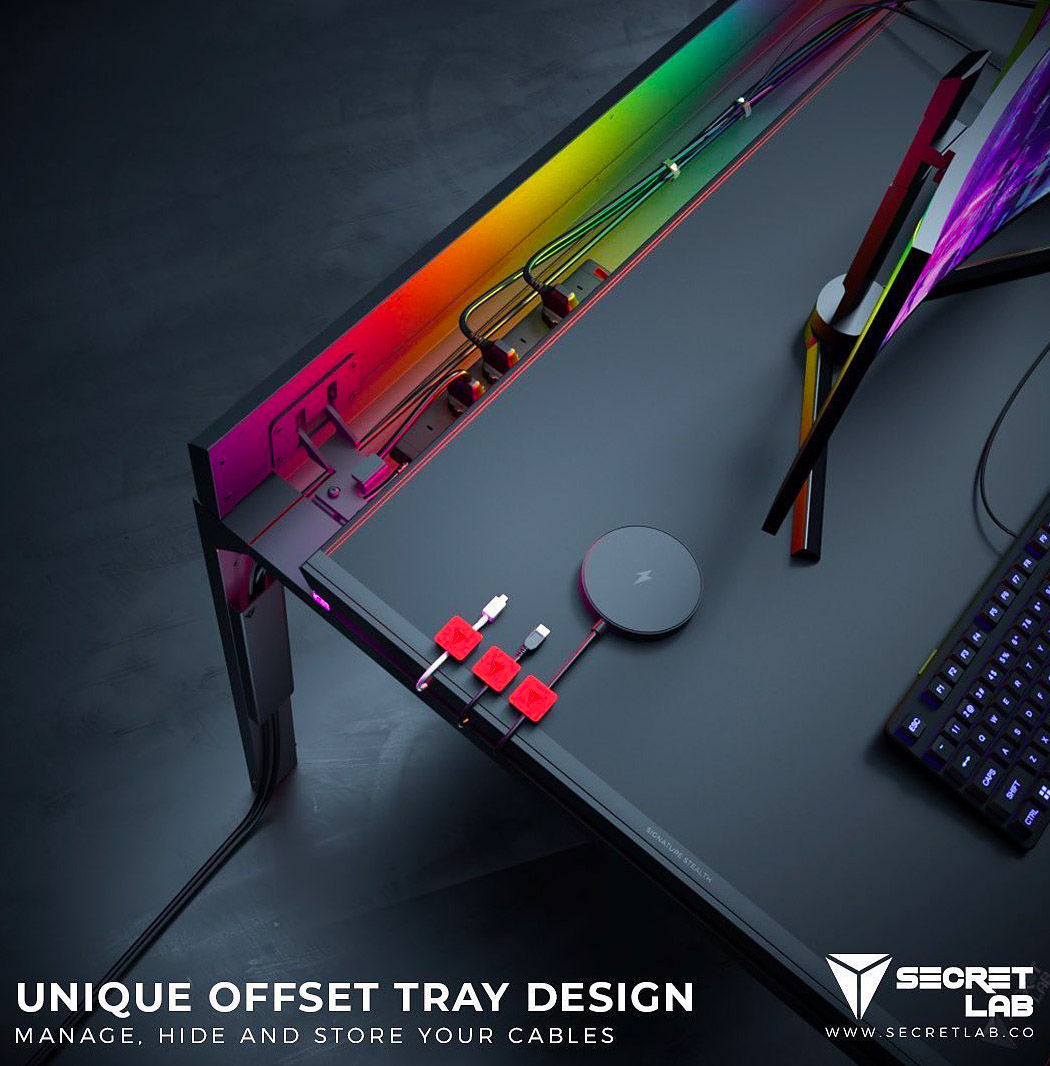 Secretlab's first PC desk is the ultimate cable management solution – using magnets!