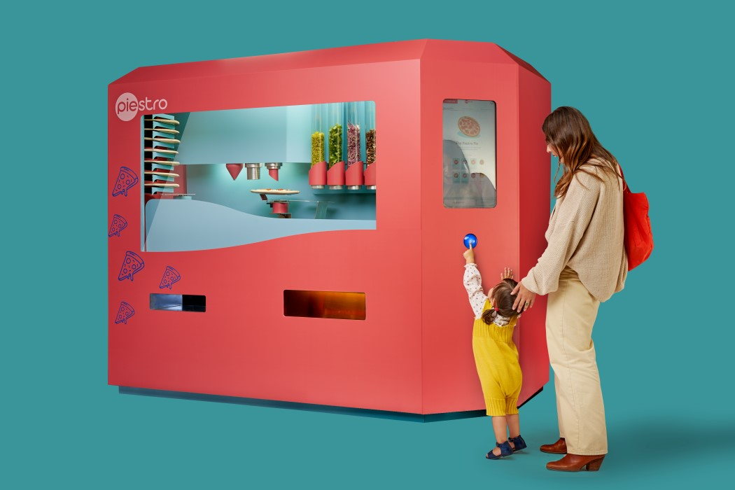 This robotic pizza-vending machine automates the entire gourmet pizza-making process!