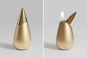This lighter's unique shape is actually inspired by the flame it creates!