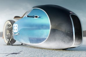 This Bugatti superbike's voluptuous form factor and aquatic aesthetics makes it the perfect fit for Aquaman!
